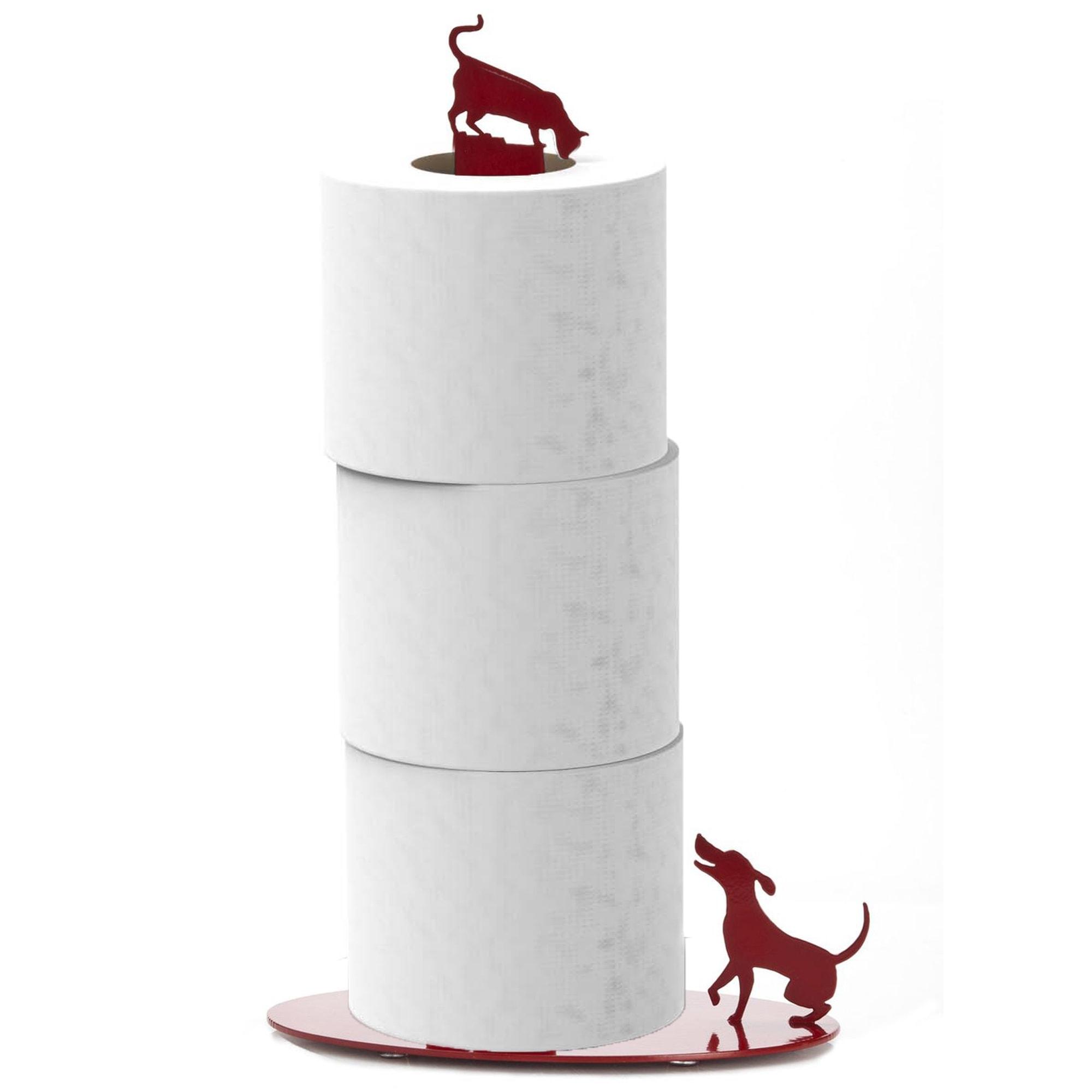 החתול והכלב - מעמד לנייר סופג - אדום