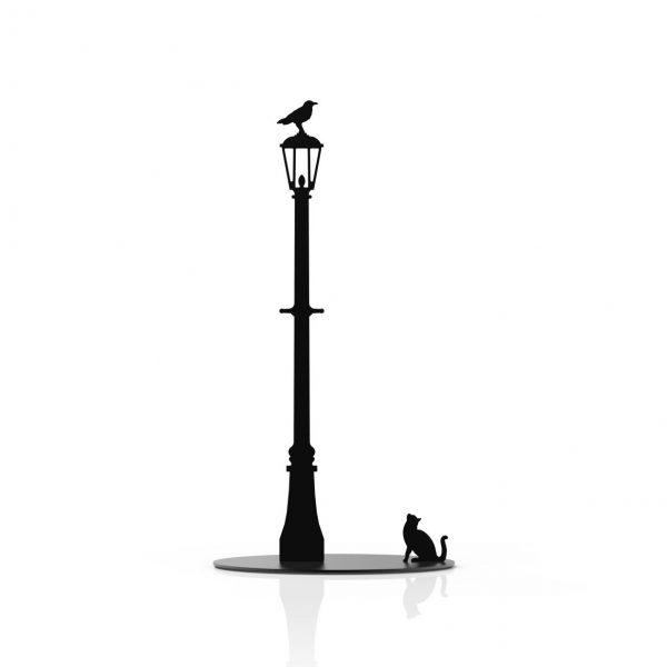 החתול והעורב - מעמד לנייר סופג - שחור