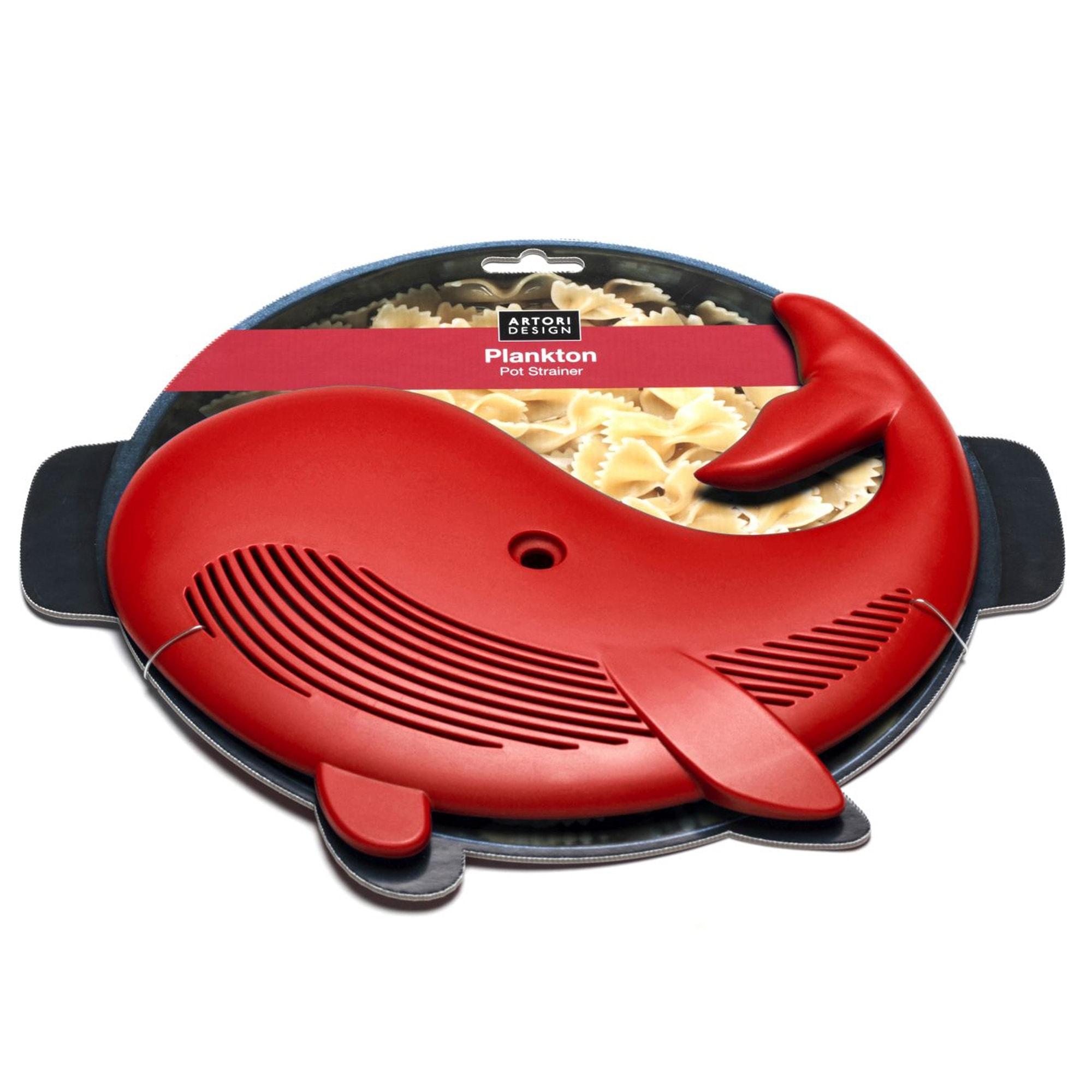 פלנקטון - מסננת מטבח - כחול/אדום