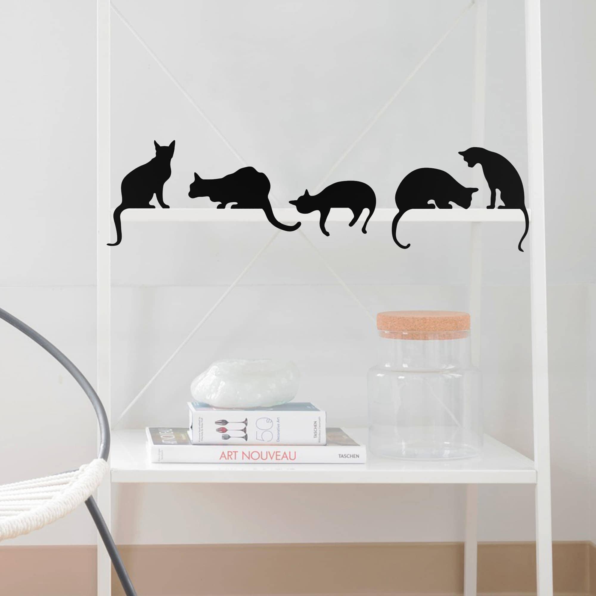 פסלוני חתולים - סט של 5 חתולים
