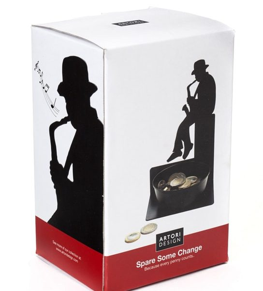 Spare Some Change - Saxophonist Coin Holder Unique Gifts by Artori