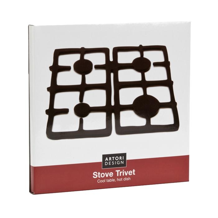 Stove Trivet - Black Multi-use Silicone Trivet