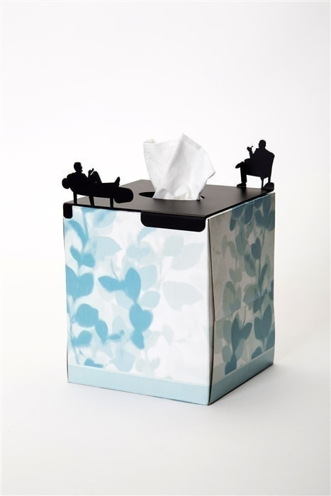 In Treatment Tissue Box Cover - small, square