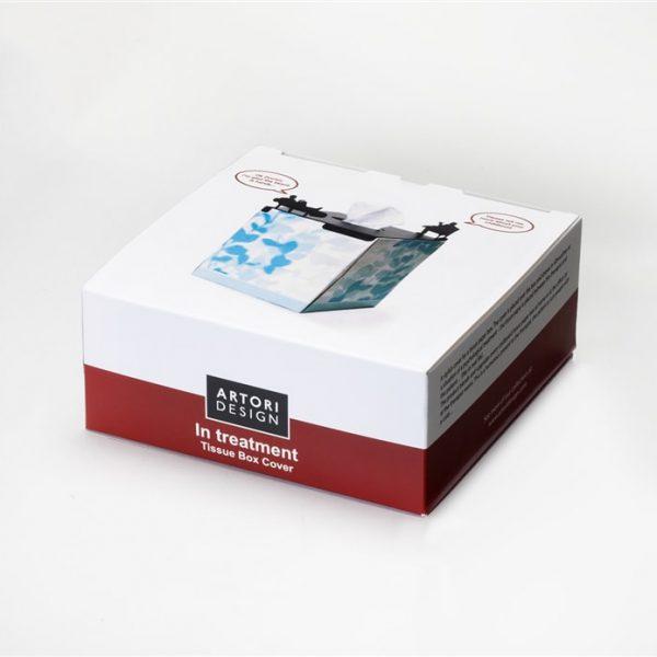 In Treatment Tissue Box Cover - small, square