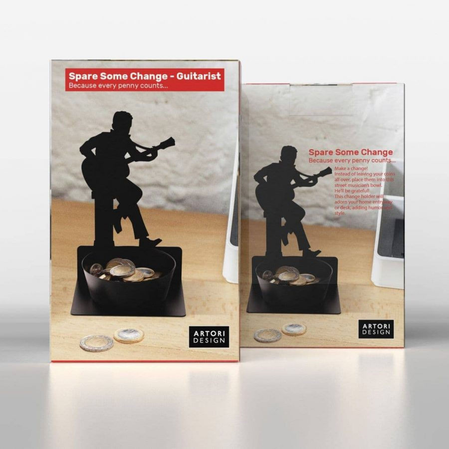 Spare Some Change - Guitar Player - Coin Holder