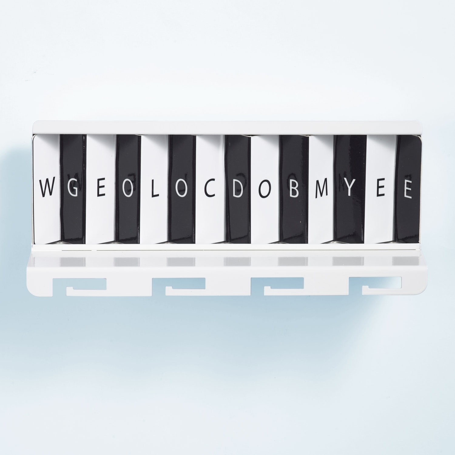 Greetings Metal White by Artori Design