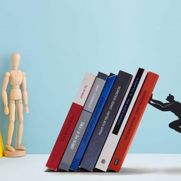 Book & Hero Bookend by Artori - Cool Gifts