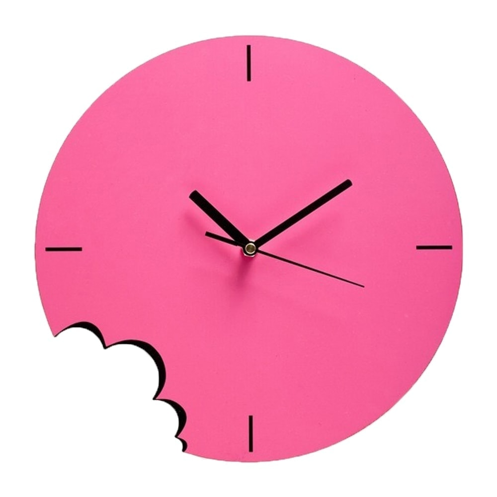 Bite Wall Clock - Pink