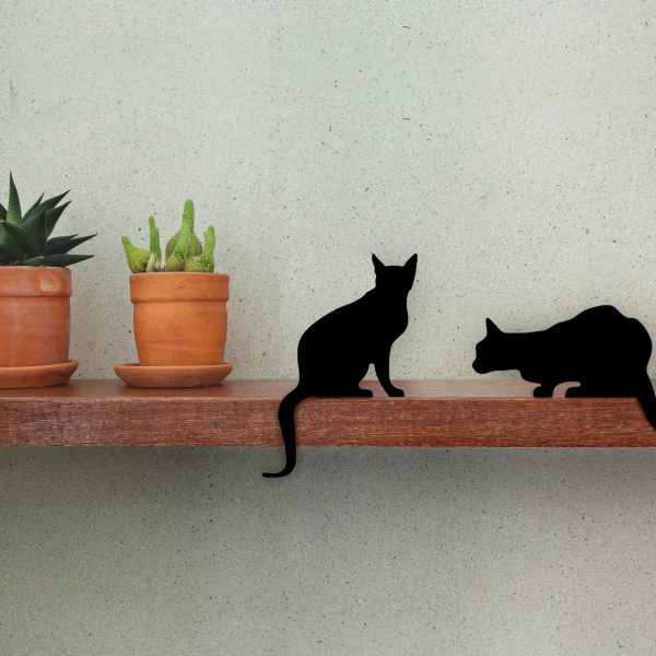 Cat's Meow - Diva + Churchill - a pair of decorative cat silhouette by Artori Design