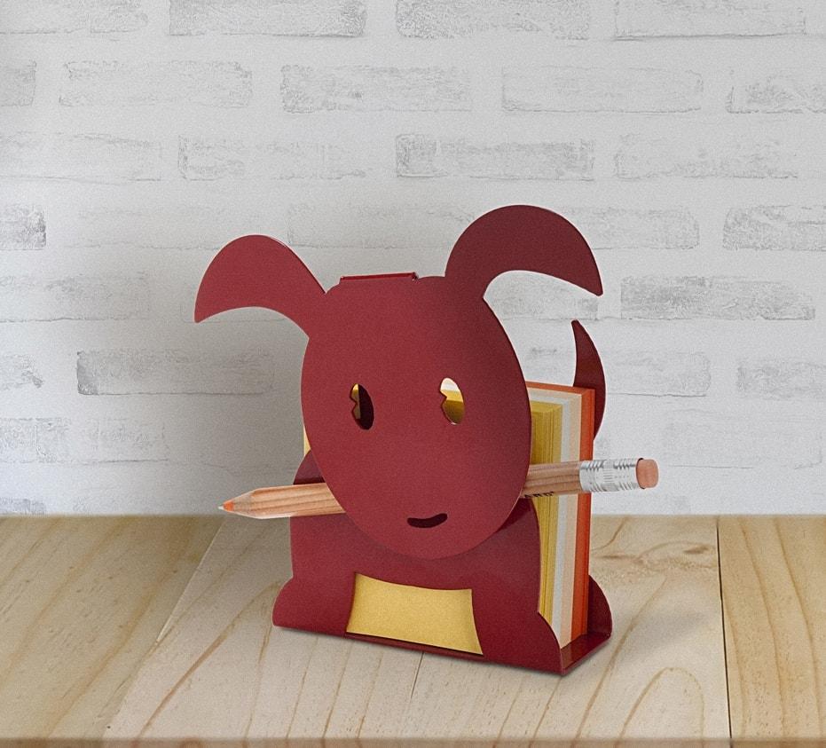 Ringo Puppy Memo Paper Holder - Red by artoridesign