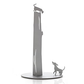 Dog Vs. Cat - Kitchen Paper Towel Holder - Light Grey by artoridesign