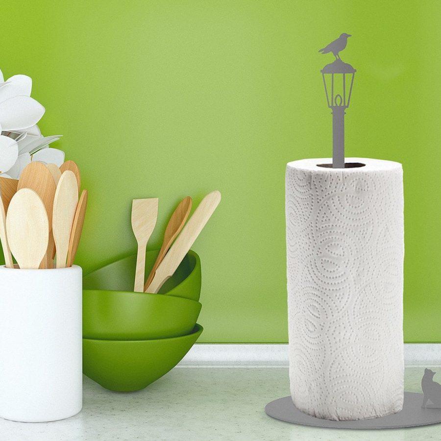 Artori Design Cat Vs. Crow - Kitchen Paper Towel Holder