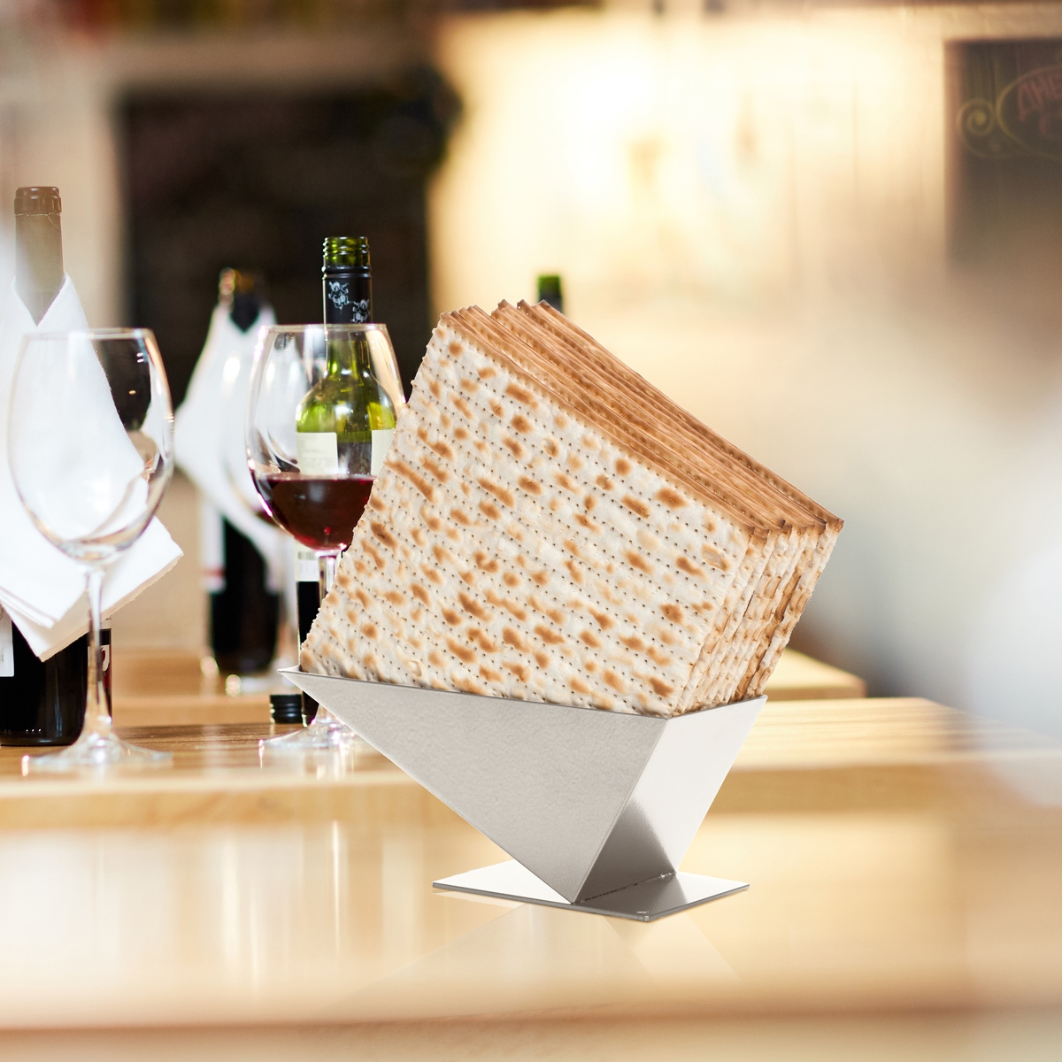 Pyramid Matzah Holder by Artori Design